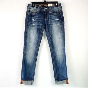 ROCK REVIVAL Alivia Fall Ankle Skinny Jeans Sz 27